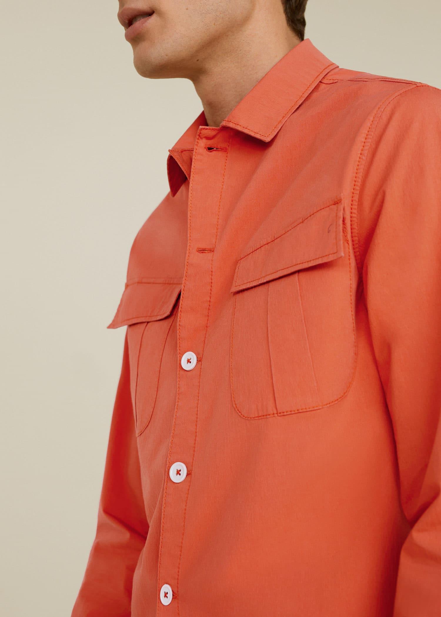 9b7a1a360a8dd Modalite - Mango Göğsü cepli koton gömlek ceket