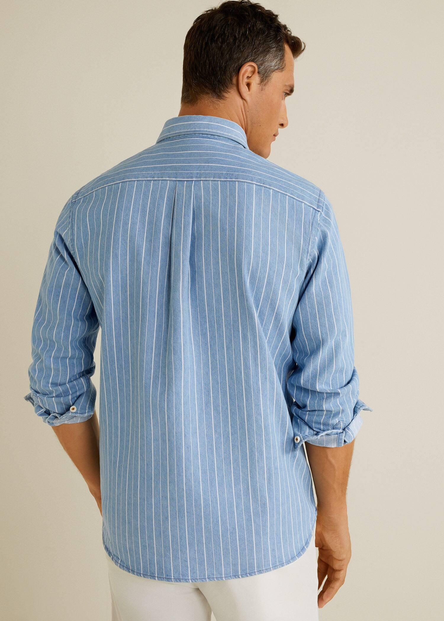 Camisa relaxed fit denim Hombre | Mango Man España