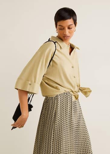 3219c591770d Lång plisserad kjol - Damer | Mango Sverige