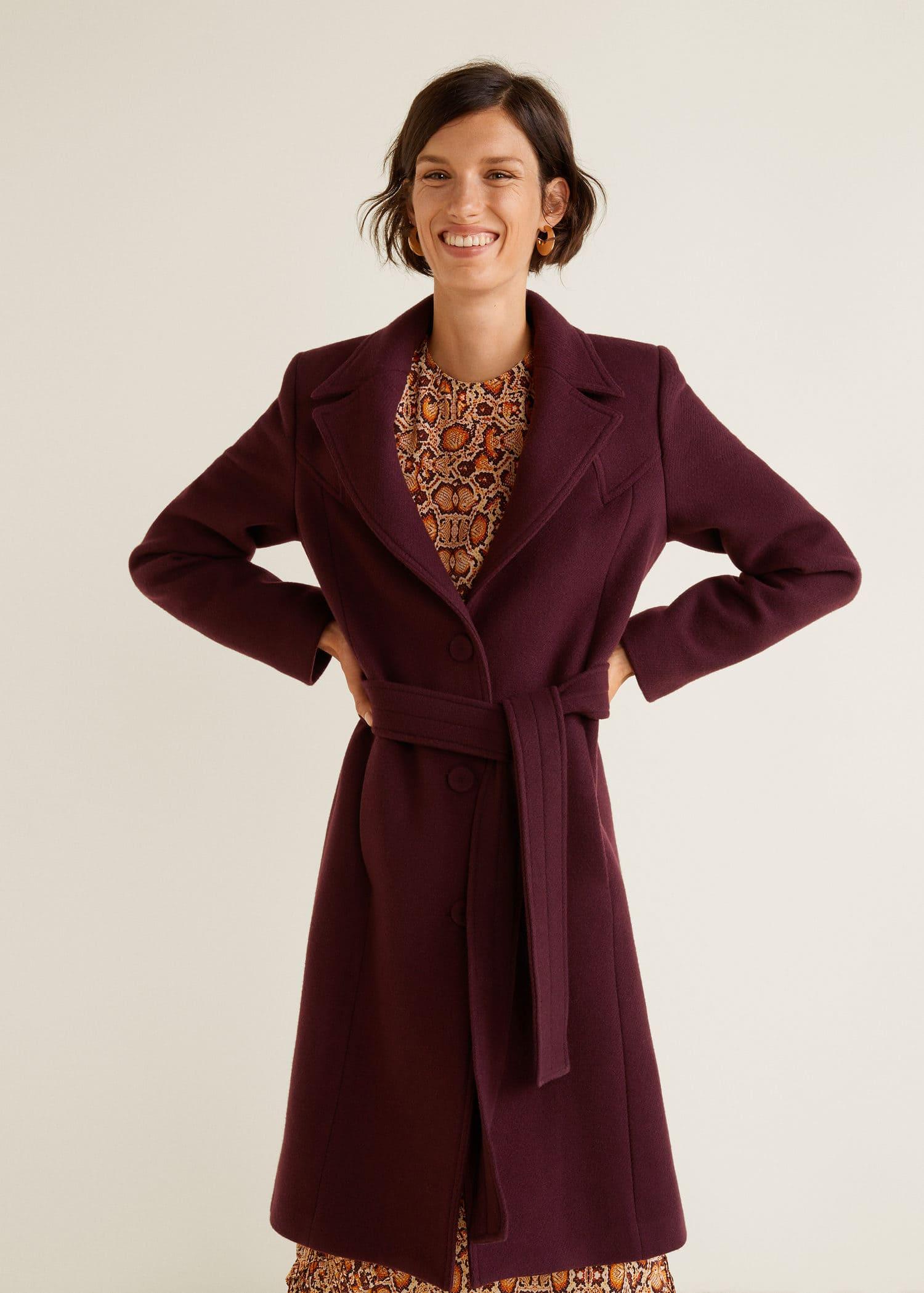 variedad de diseños y colores ventas calientes descuento más bajo Abrigo lana estructurado - Abrigos de Mujer | OUTLET España