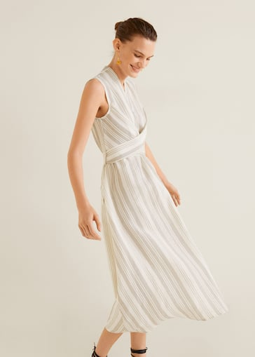 607152148c97 Bow linen dress - Details of the article 1