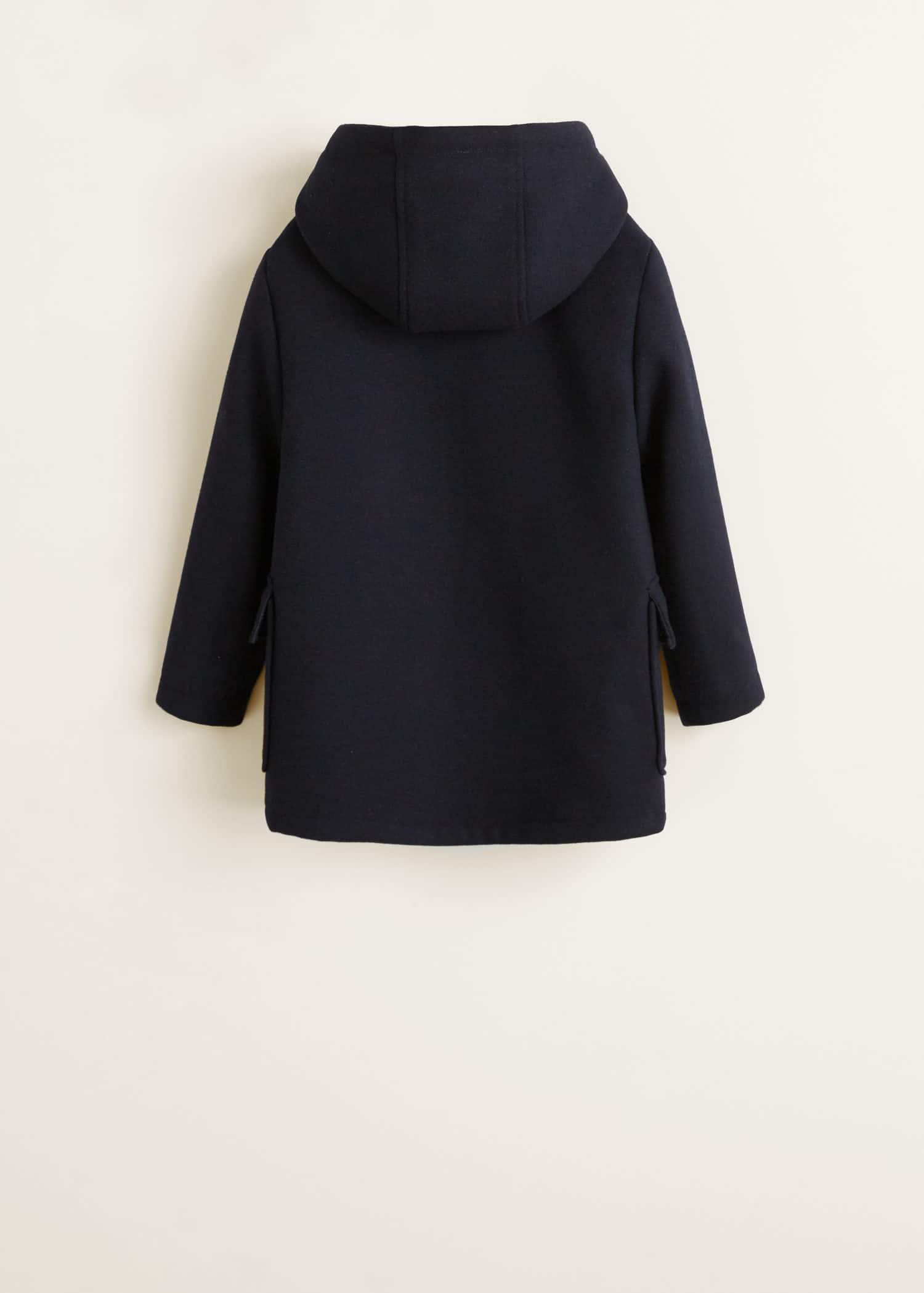 Hood wool blend duffle coat
