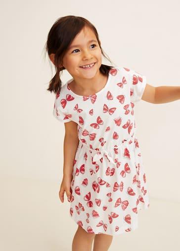 cee0f285457 Принтованное платье с поясом - Средний план