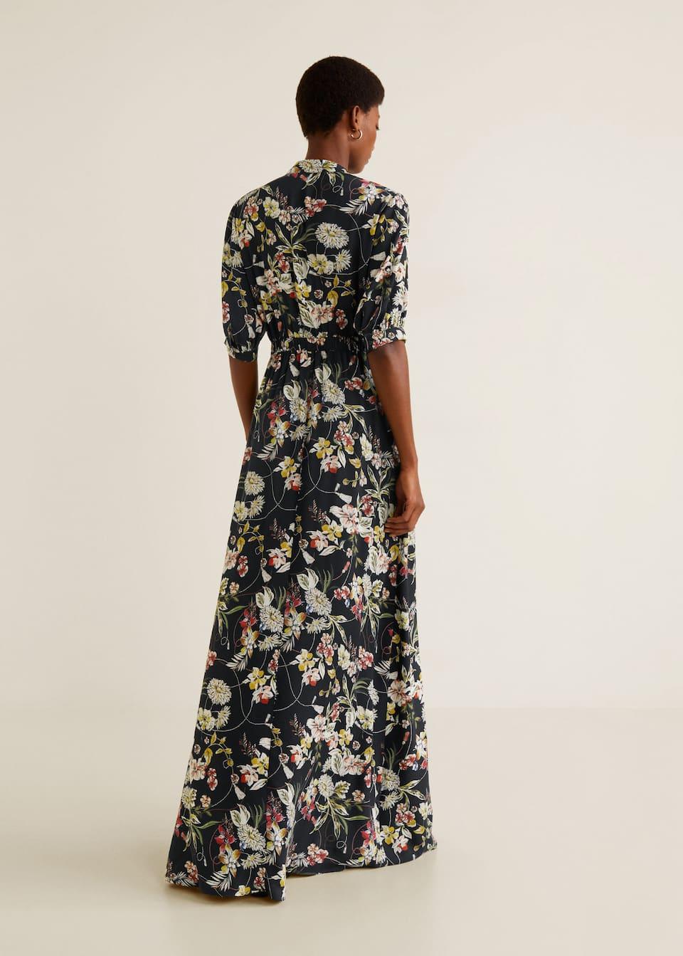 Vestido largo flores - Vestidos de Mujer  OUTLET Islas Canarias
