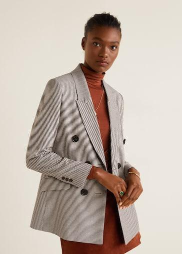 a un precio razonable sitio de buena reputación venta minorista Houndstooth structured blazer