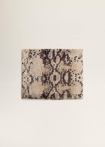 Foulard imprimé serpent - Femme   Mango Burkina 267329baded