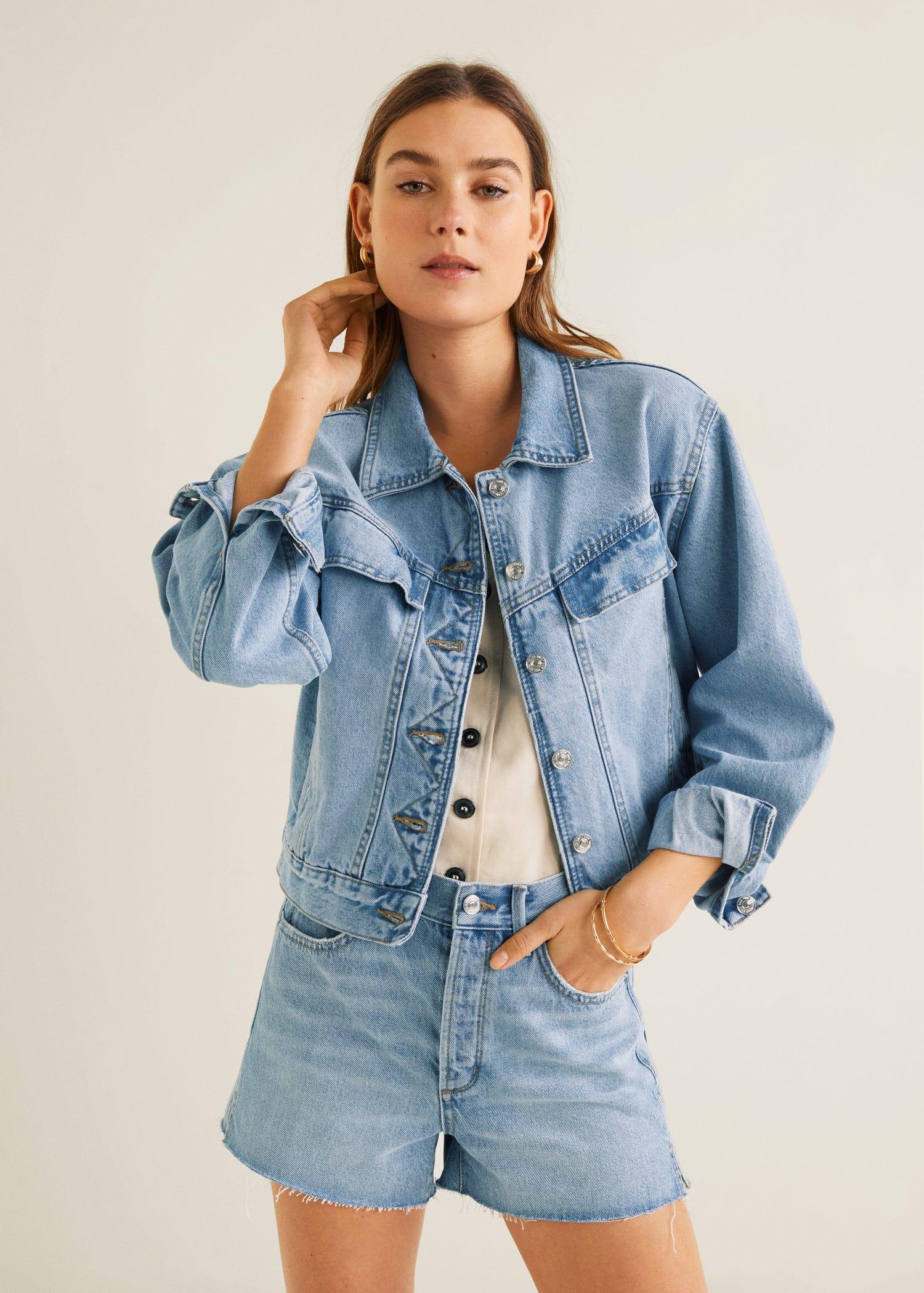 813354a3d Vintage wash denim jacket - Woman | Mango Sweden