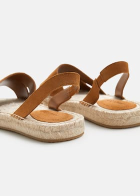 a5a8cb8ad Leather-blend espadrilles - Woman | Mango Norway