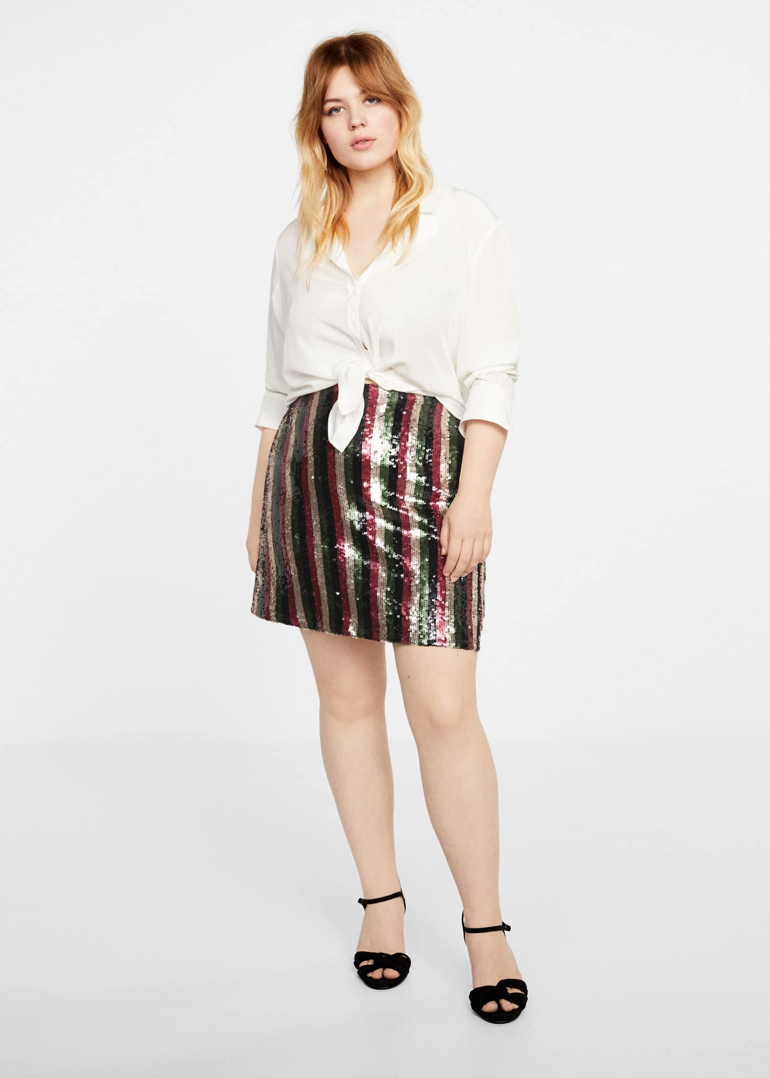 243d525160 Sequin miniskirt - Plus sizes | Violeta by Mango Oman