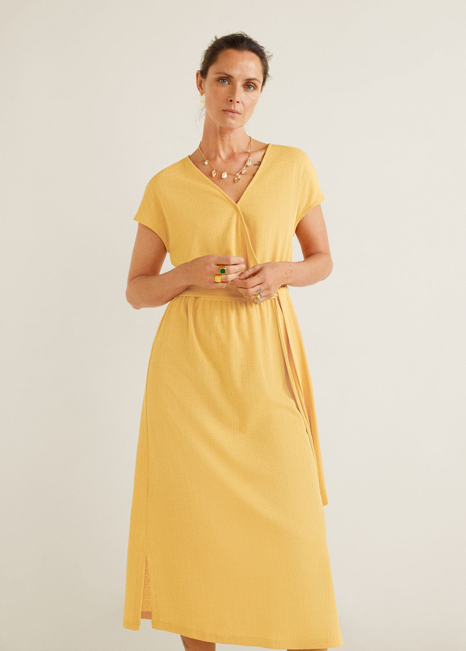 Macedonia Bow Textured Textured Dress Bow Macedonia WomanMango Dress WomanMango Textured Bow thBQdsCxro