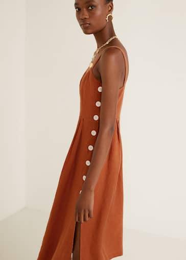 a8ae9f8403 Φόρεμα λινό κουμπιά - Λεπτομέρεια του προϊόντος 1