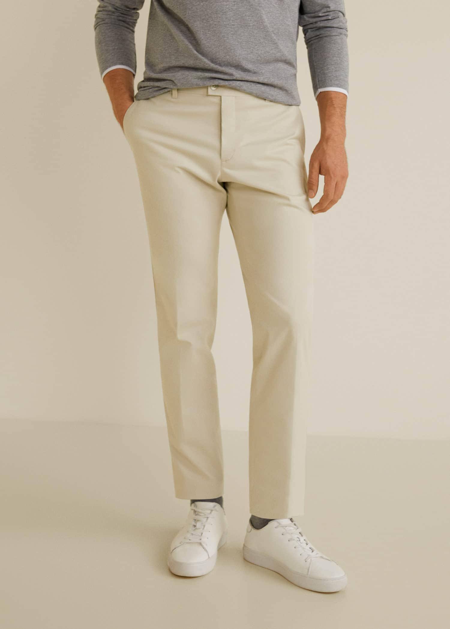 prix imbattable rabais de premier ordre mieux Pantalon slim-fit style chino - Homme | Mango Man France