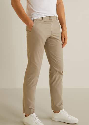 3859961259 Slim-fit chinos trousers - Medium plane