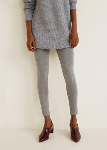 d43708a653e20d Essential cotton leggings - Woman | MANGO India