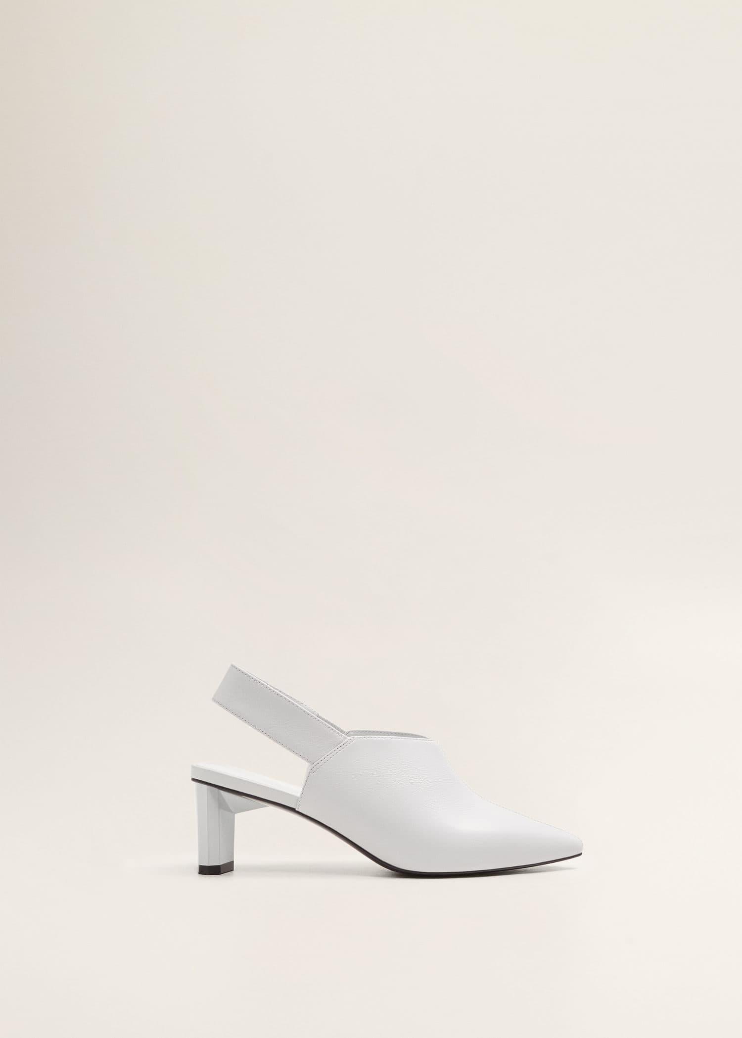 Buty skórzane bez pięty