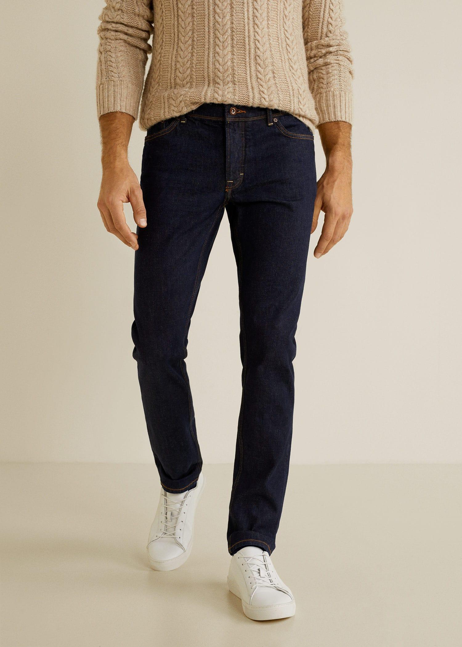 Lavado Hombre Slim Jeans Man Mango Oscuro Fit España Tim zgxwt