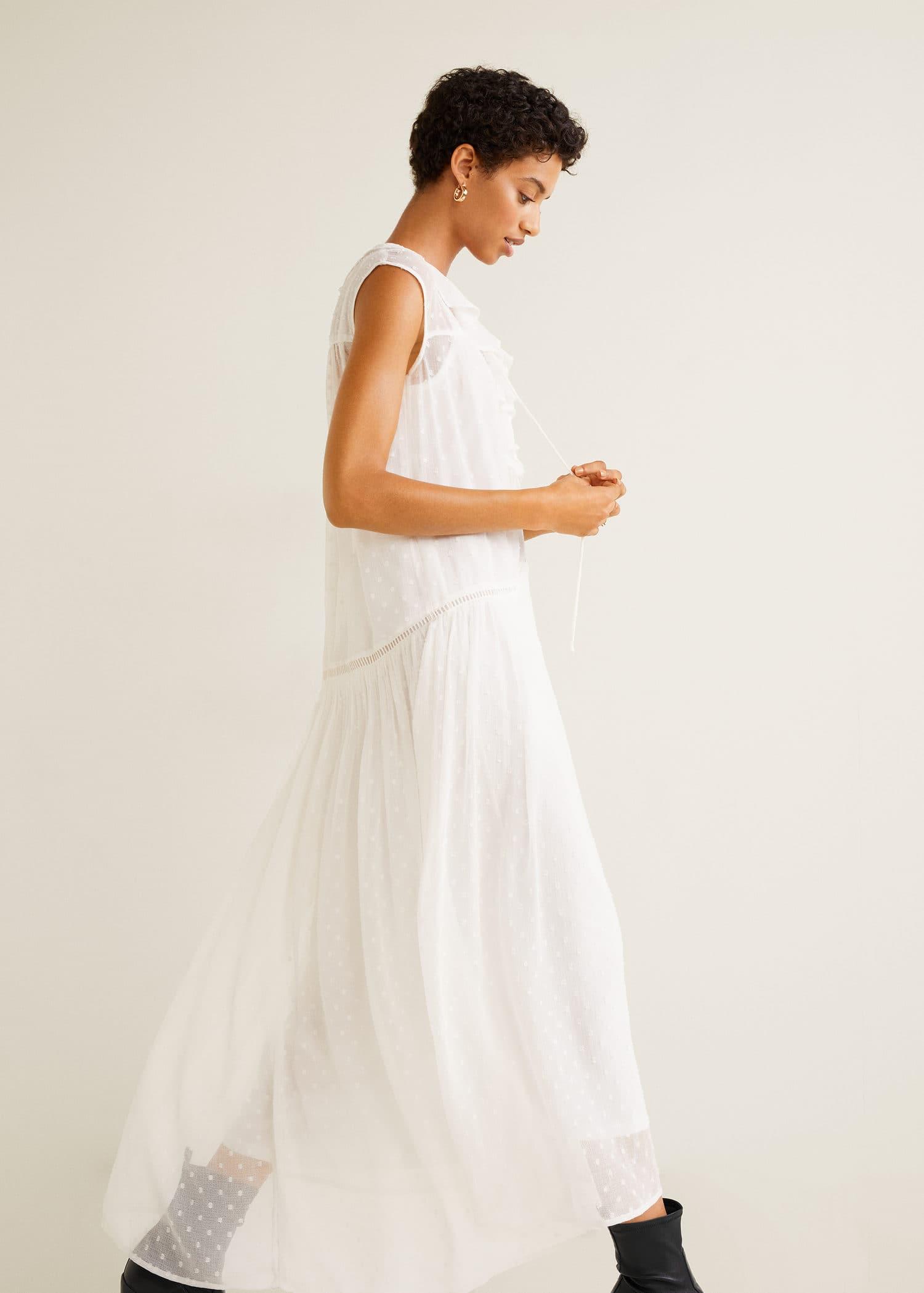 Vestido plumeti mujer