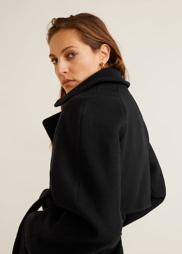 a6365929e7b3c Belted wool coat - Details of the article 4