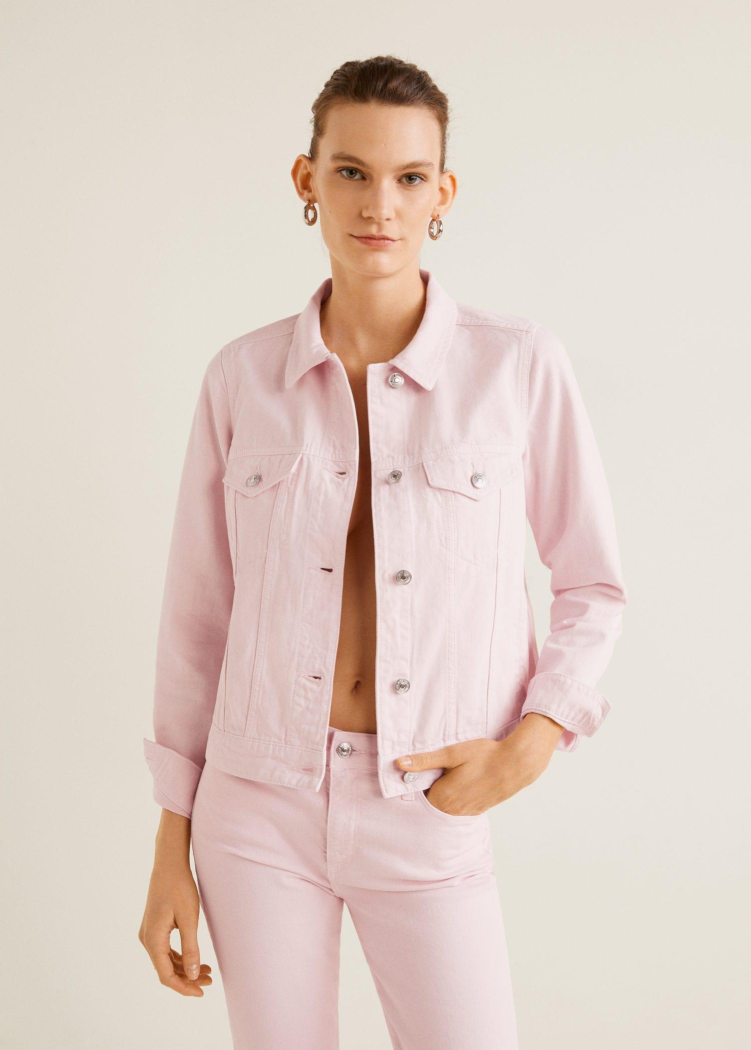 mango jeansjacke rosa