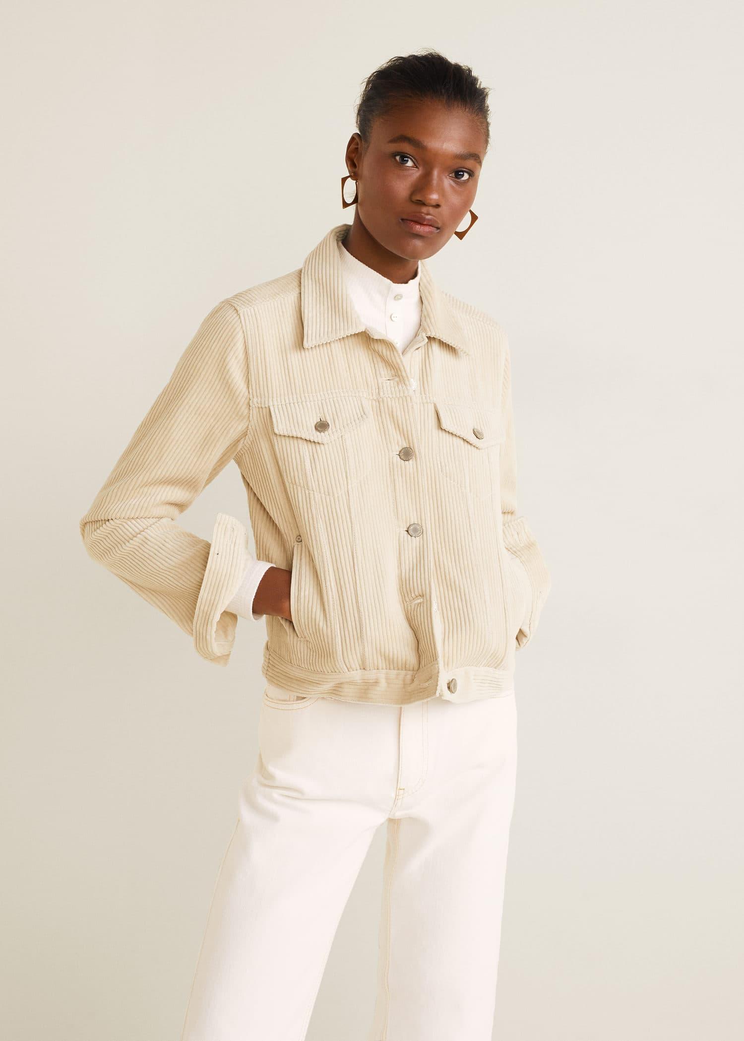Buttoned corduroy jacket - Women