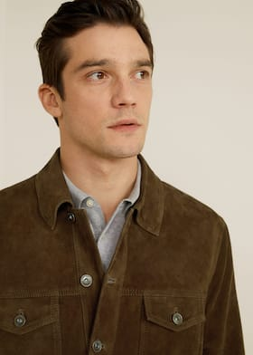 ce9931a806b Flap-pocket suede jacket - Details of the article 1