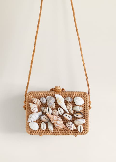 Bambusowa torebka z muszelkami