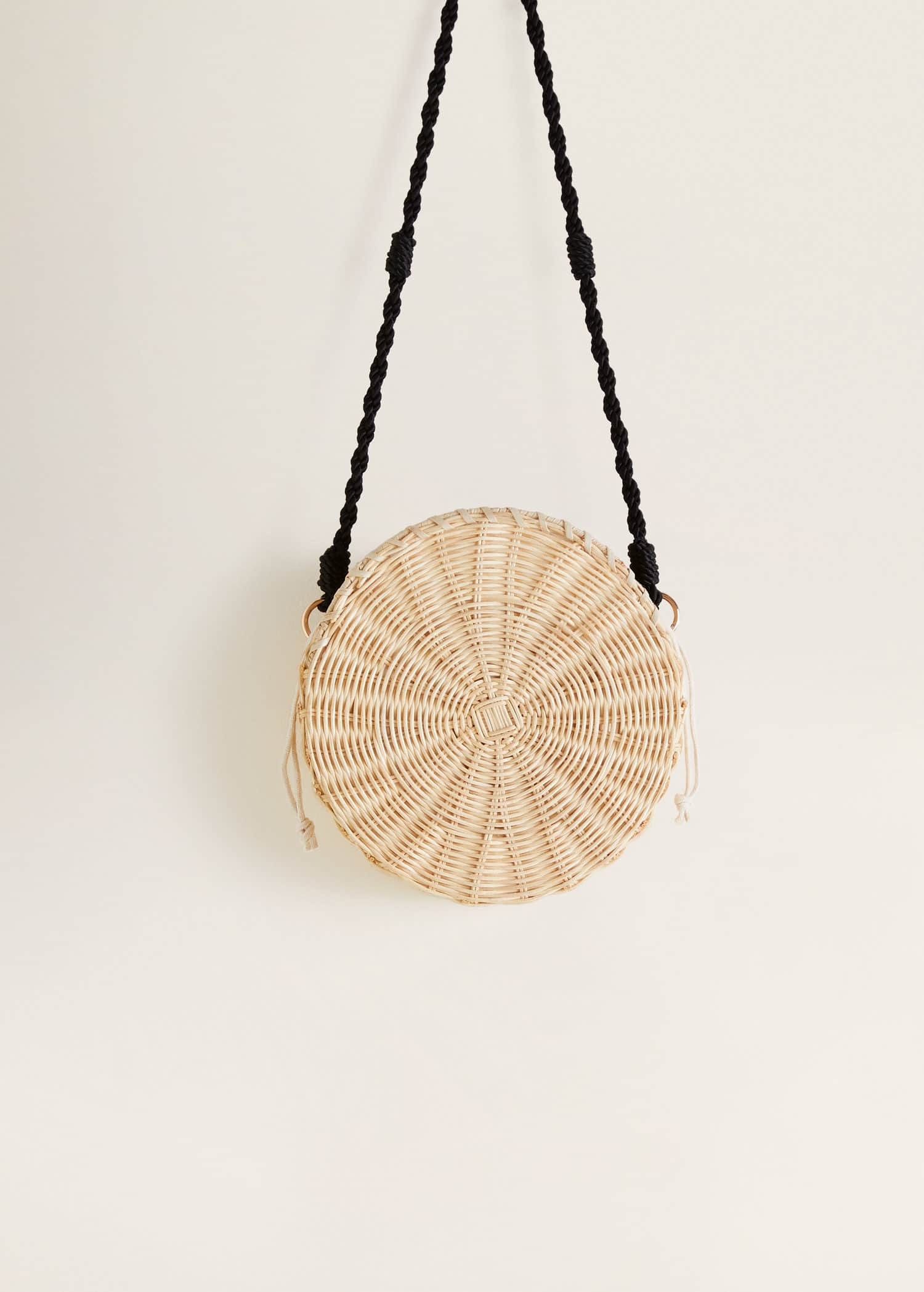 Okrągła bambusowa torebka