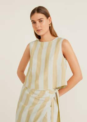 06dabab4fa Striped top - Details of the article 2