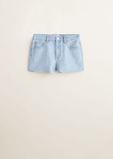 8d50ad1658 Frayed denim shorts - Woman | Mango Ireland
