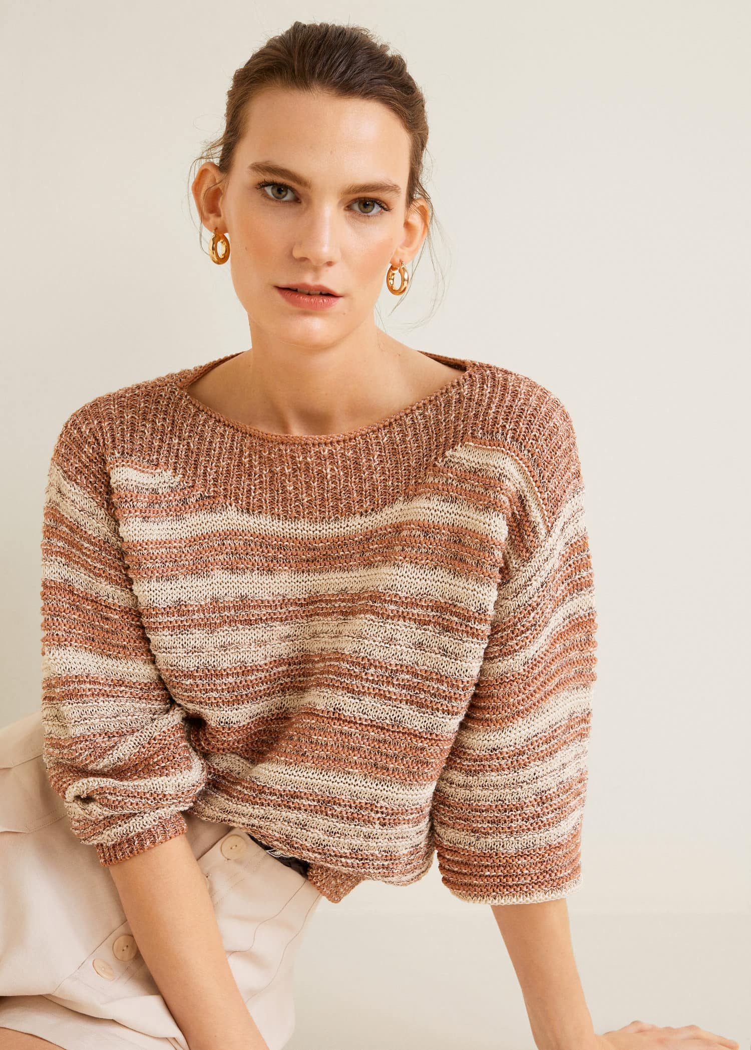 cheap cozy fresh super quality Modalite - Mango Contrasting knit sweater