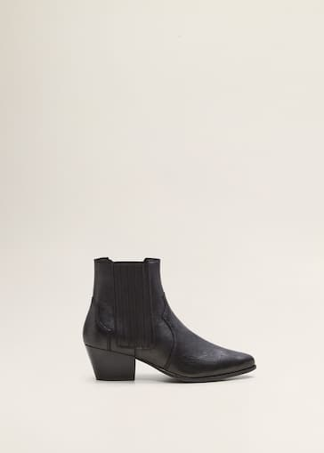 7c6521d7c872 Leather cowboy ankle boots - Women | Mango USA
