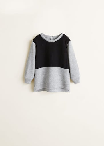 38191b05 Bicolor sweatshirt - Boys | Mango Kids United Kingdom