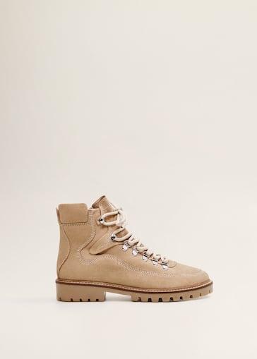 c6422267f46 Kožené kotníčkové boty na zavazování