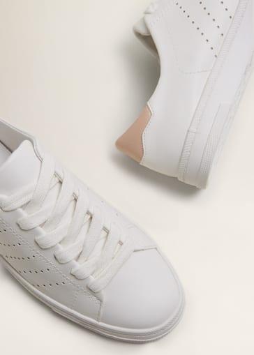 Contrast appliqué sneakers - Woman  d7929771c