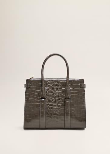 3b9e50b3d7c Croc-effect tote bag