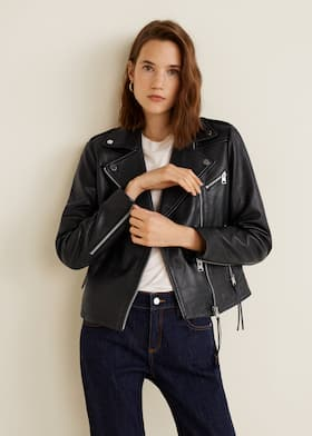 13850f1c1 Leather biker jacket