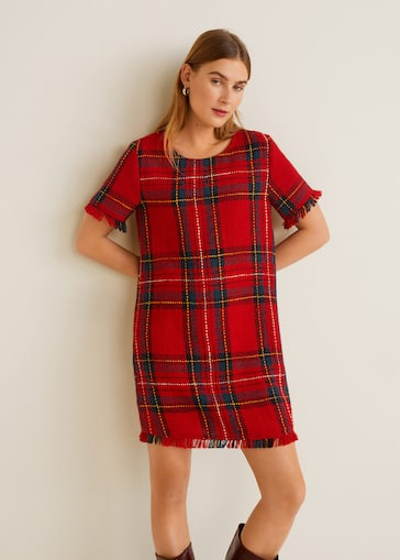 1188bc288a8b Plaid tweed dress - Women | Mango United Kingdom