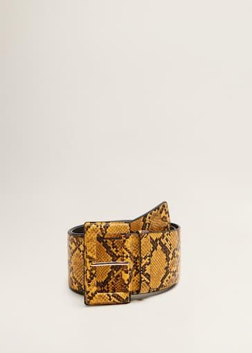 Ceinture large imitation serpent - Femme   MANGO Côte d Ivoire 7316932baef