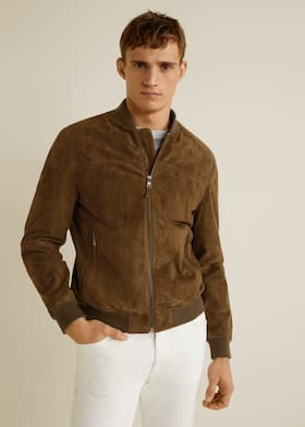 bf524a3a5d5 Suede bomber jacket - Medium plane. Choose your size