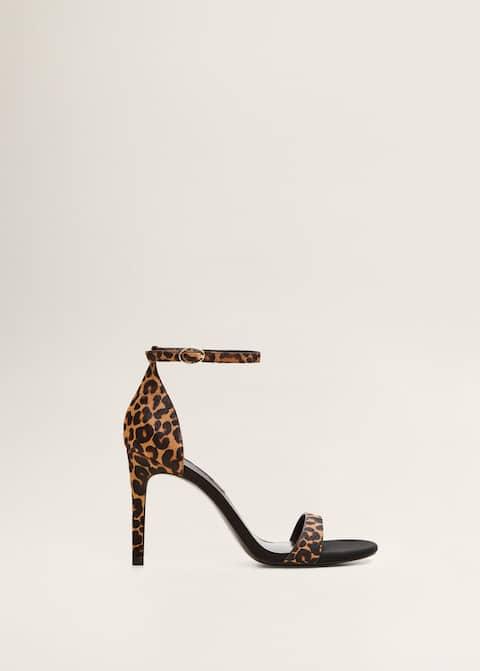 2f5c64ae84f166 Skórzane sandały w cętki - Artykuł bez modela/modelki