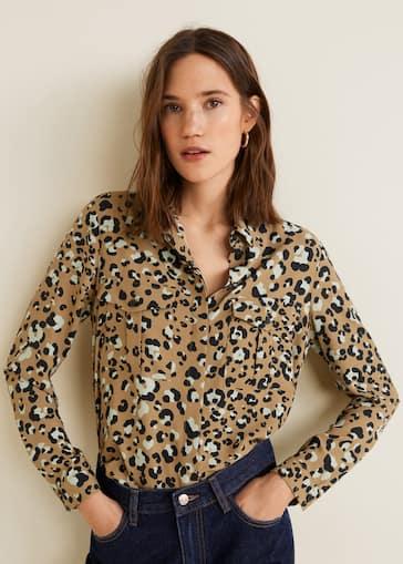 c600d24401 Leopard print shirt - Women | Mango USA