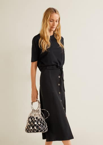 171c7b16ec Buttoned midi skirt - Details of the article 1