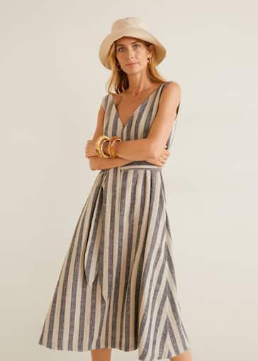 9fb0f1f8fc Striped linen dress - Women