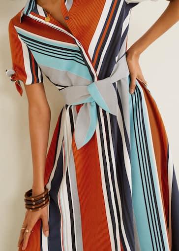 90aae98f9b42f9 Gestreepte combi-jurk - Detail van het artikel 2
