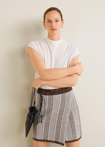 3a730031f Minifalda jacquard algodón