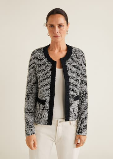 25be03050b79 Tweed jacket - Women | Mango USA