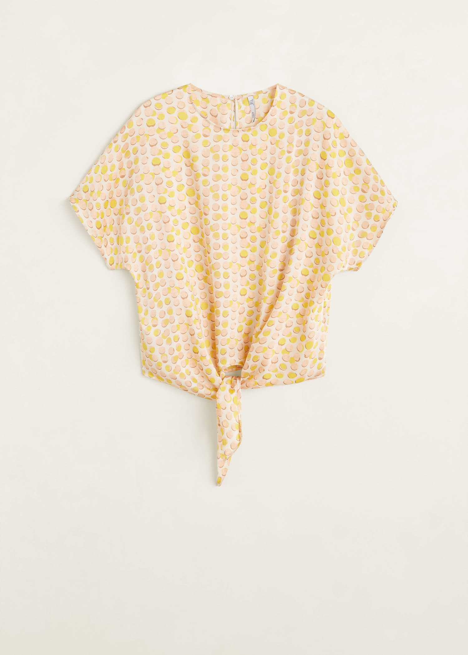 2dc6b75f4 Blusa detalle nudo - Mujer | Mango España