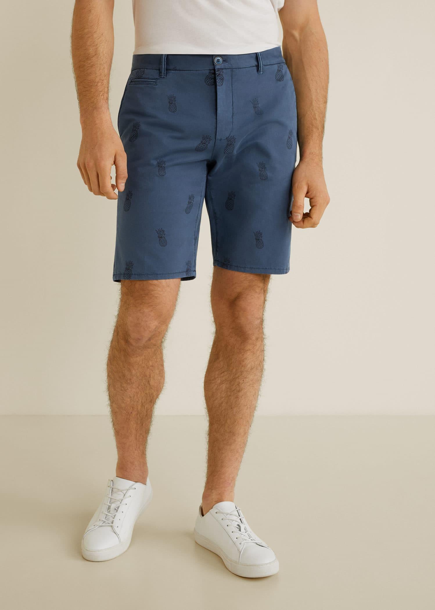 ManMango Cotton Printed China Bermuda Shorts Flc13TJK