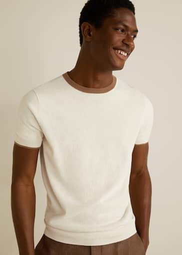 23dbee99e Cotton linen-blend knit t-shirt - Medium plane