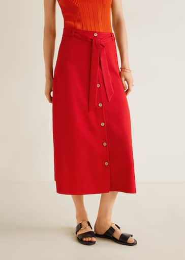 a53ad72167 Buttoned midi skirt - Women | Mango United Kingdom